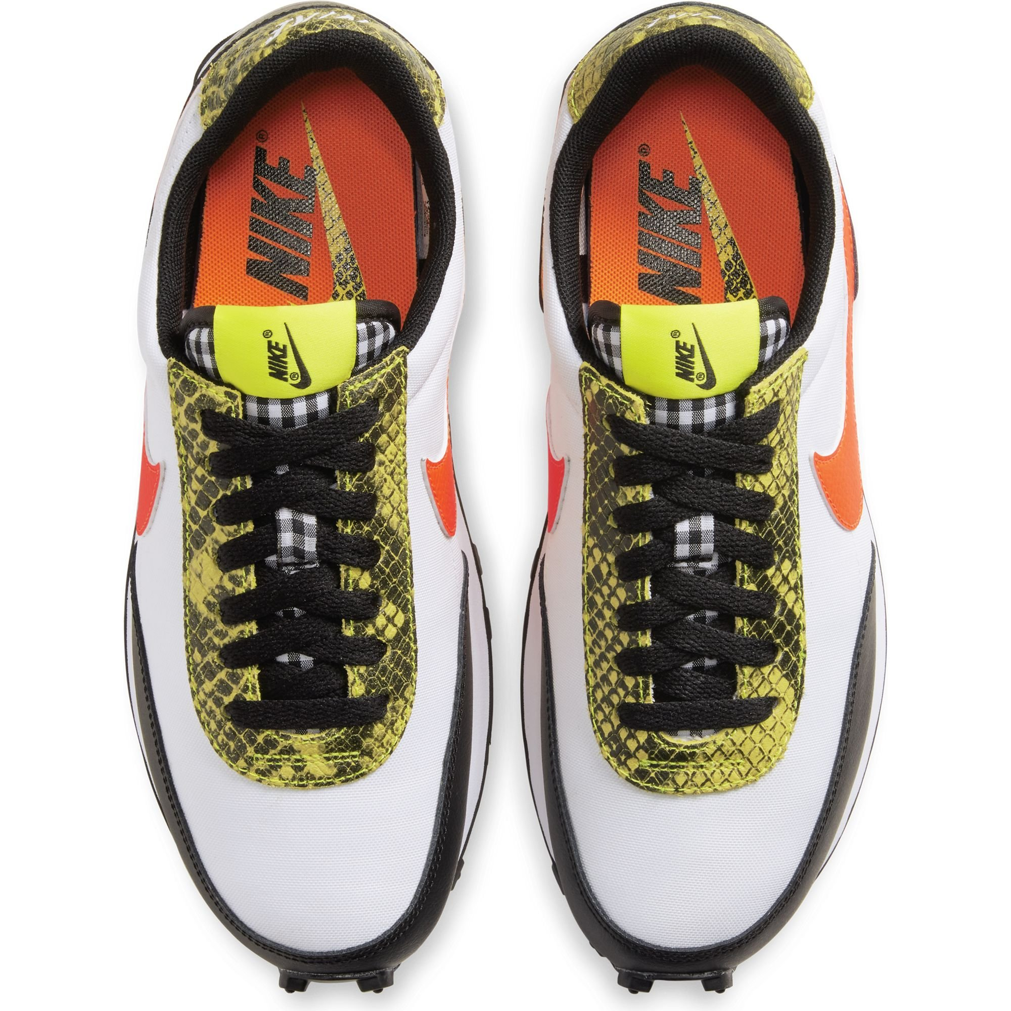 nike wmn daybreak black total orange dynamic yellow