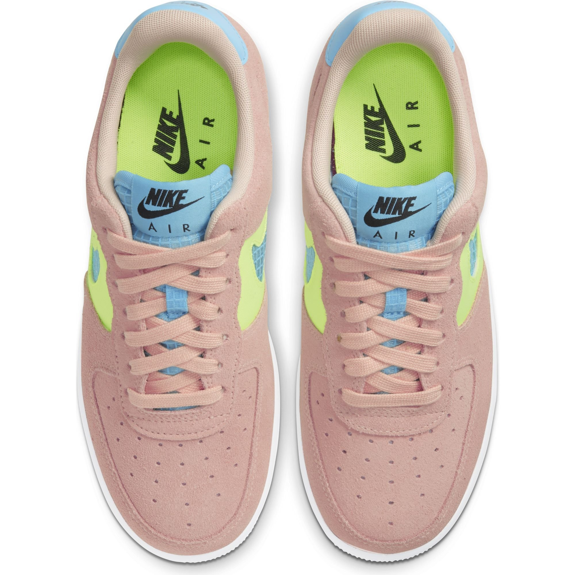 Nike wmn air force 1 low washed coral ghost green