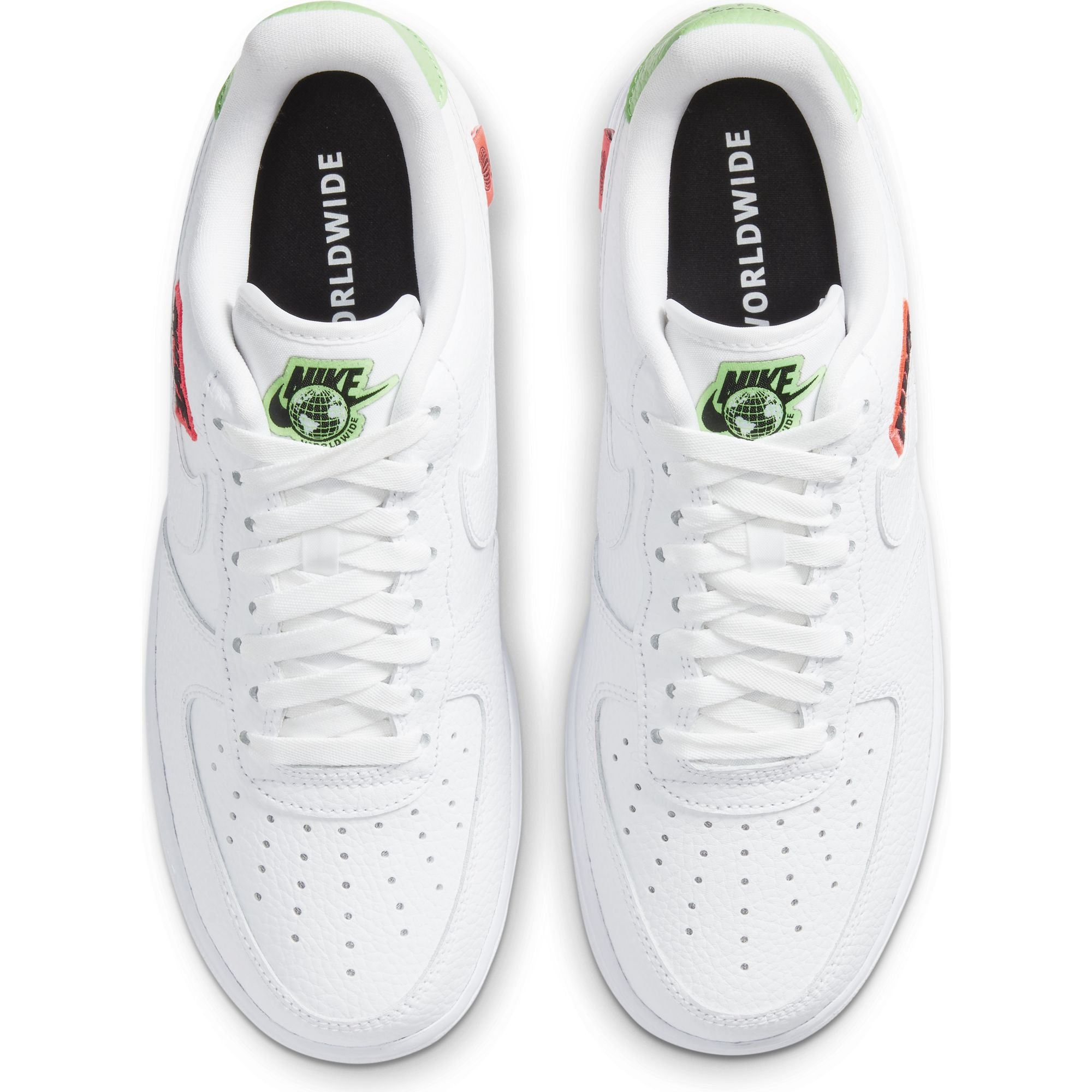nike wmn air force 1 '07 se white flash crimson green strike