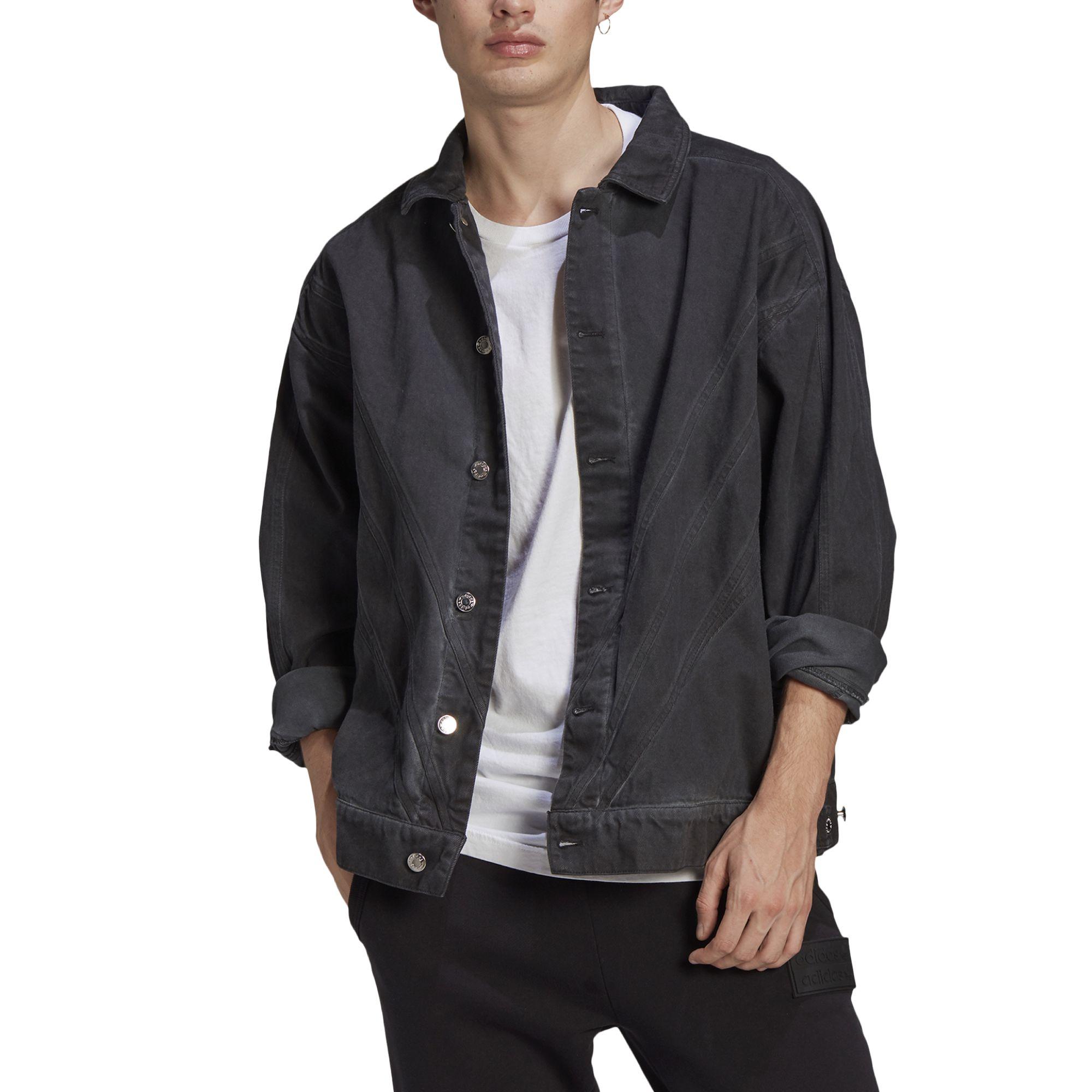 Adidas fshn denim jacket black