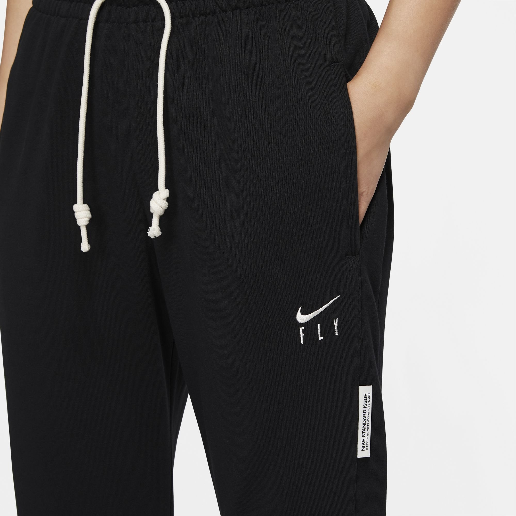 """nike dri-fit pant black white """"fly pack for her"""""""